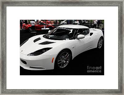 2012 Lotus Evora - 5d20015 Framed Print by Wingsdomain Art and Photography