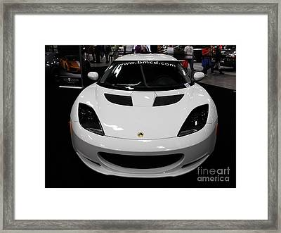2012 Lotus Evora - 5d20016 Framed Print by Wingsdomain Art and Photography