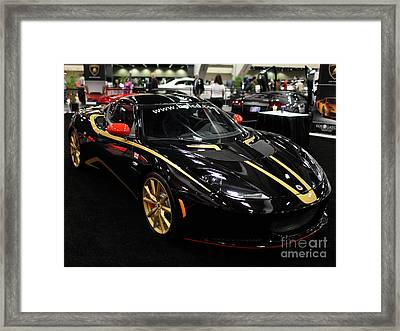 2012 Lotus Evora - 5d20018 Framed Print by Wingsdomain Art and Photography