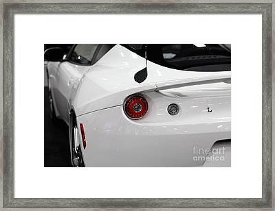 2012 Lotus Evora - 5d20201 Framed Print by Wingsdomain Art and Photography