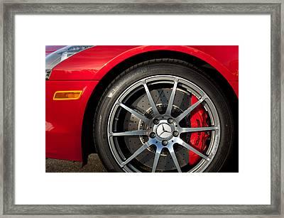 2012 Mercedes-benz Sls Amg Gullwing Wheel Framed Print by Jill Reger