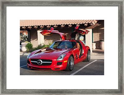 2012 Mercedes-benz Sls Gullwing Framed Print by Jill Reger