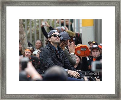 2012 San Francisco Giants World Series Champions Parade - Barry Zito - Img8206 Framed Print by Wingsdomain Art and Photography