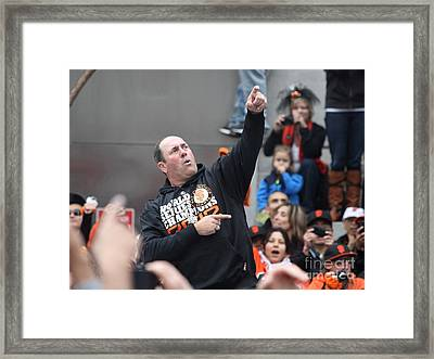 2012 San Francisco Giants World Series Champions Parade - Will The Thrill Clark - Dpp0006 Framed Print by Wingsdomain Art and Photography