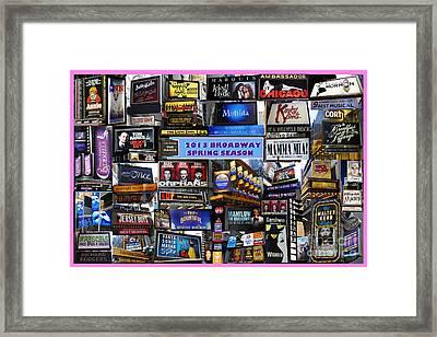 2013 Broadway Spring Collage Framed Print by Steven Spak
