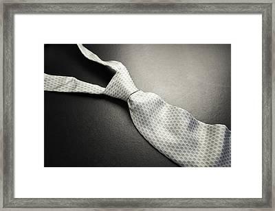 2014-10 Gey_necktie_04-soft Focus Framed Print by Bombaert Patrick