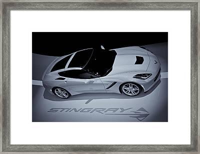 2014 Chevy Corvette  Bw Framed Print by Rachel Cohen