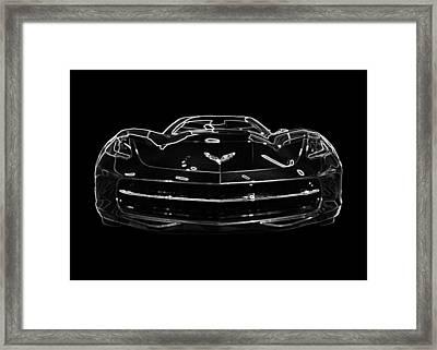 2014 Chevy Corvette Stingray Covertible Framed Print by Patsy Zedar