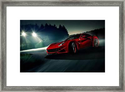 2014 Novitec Rosso Ferrari F12 Berlinetta N Largo Framed Print by Movie Poster Prints