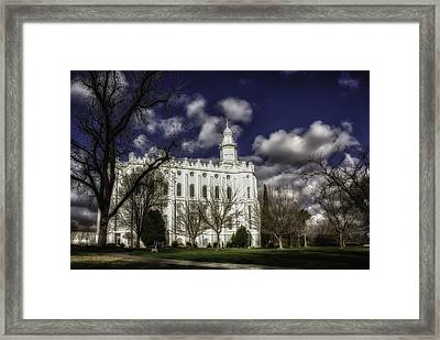2014 St. George Temple Framed Print by La Rae  Roberts
