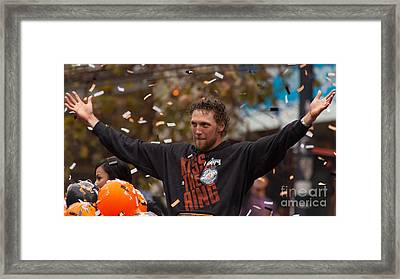 2014 World Series Champions San Francisco Giants Dynasty Parade Sergio Romo 5d29766 Framed Print by Wingsdomain Art and Photography