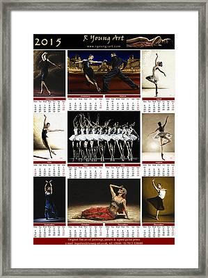 2015 Fine Art Calendar Framed Print by Richard Young
