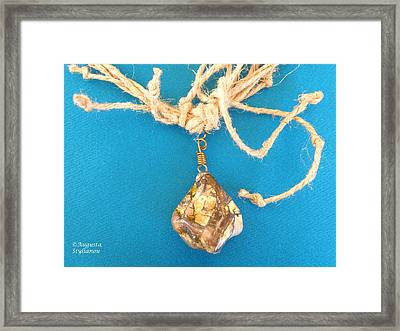 Aphrodite Urania Necklace Framed Print by Augusta Stylianou