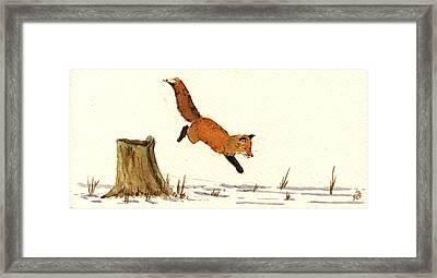 Red Fox Framed Print by Juan  Bosco
