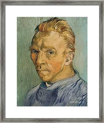 Self Portrait Framed Print by Vincent Van Gogh