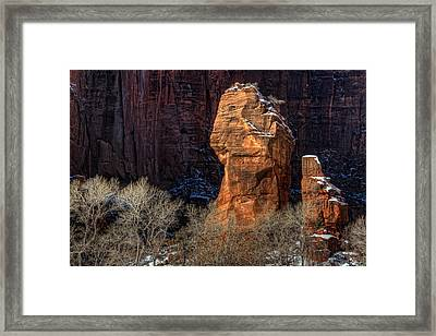Zion National Park Utah Framed Print by Utah Images