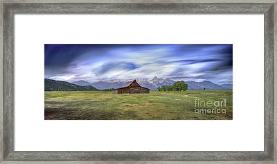 210 Seconds Of Mormon Row Framed Print by Marco Crupi