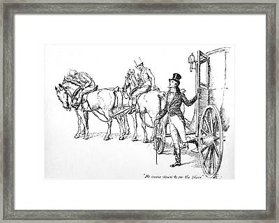 Scene From Pride And Prejudice By Jane Austen Framed Print by Hugh Thomson