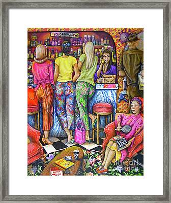 Shop Talk Framed Print by Linda Simon