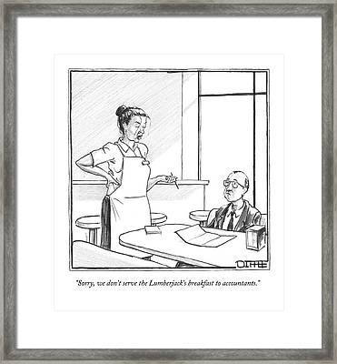 Untitled Framed Print by Matthew Diffee