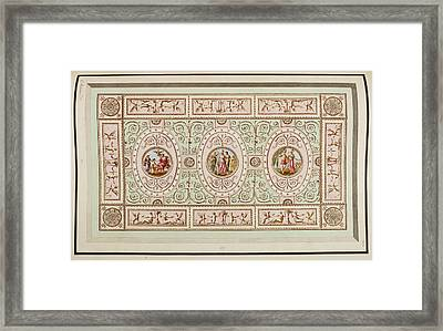 Antique Grotesque Ceilings Framed Print by British Library