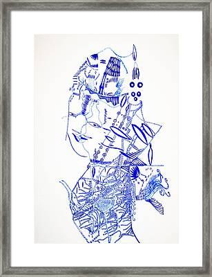 Dinka Lady - South Sudan Framed Print by Gloria Ssali