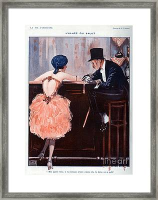 La Vie Parisienne  1920 1920s France Framed Print by The Advertising Archives