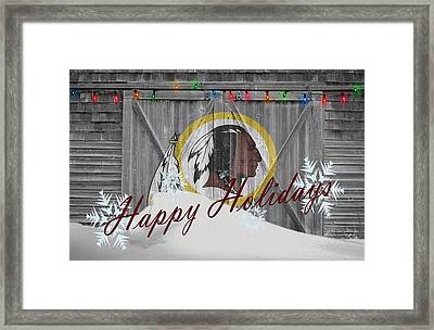 Washington Redskins Framed Print by Joe Hamilton