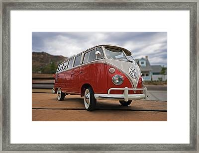 23 Window Framed Print by Peter Tellone