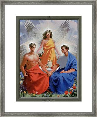 24. The Trinity / From The Passion Of Christ - A Gay Vision Framed Print by Douglas Blanchard