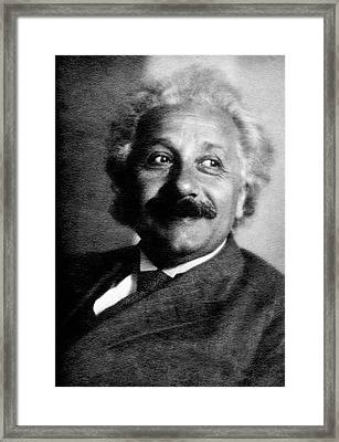 Albert Einstein Framed Print by Emilio Segre Visual Archives/american Institute Of Physics