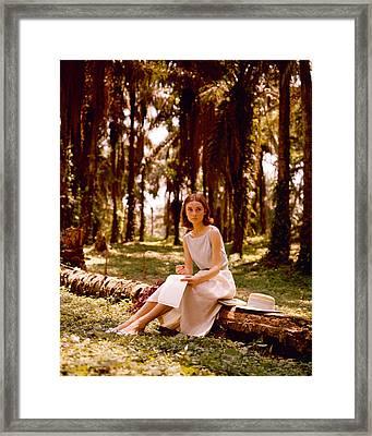 Audrey Hepburn Framed Print by Silver Screen