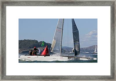 Bay Regatta Framed Print by Steven Lapkin