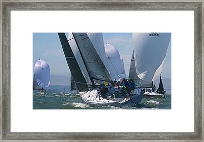 Crossing Tacks Framed Print by Steven Lapkin