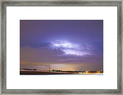 25 To 34 Intra-cloud Lightning Thunderstorm Framed Print by James BO  Insogna