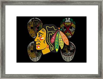 Chicago Blackhawks Framed Print by Joe Hamilton