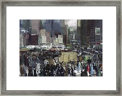 New York 1911 Framed Print by George Wesley Bellows