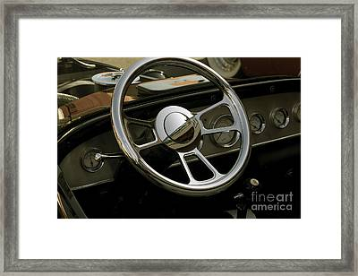 '27 Ford T-roadster Wheel Framed Print by Sean Stauffer