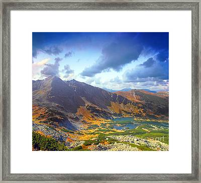 Mountains Landscape Framed Print by Michal Bednarek