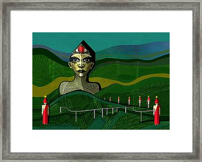 293 -  Appearance Of A New Sphinx  Framed Print by Irmgard Schoendorf Welch