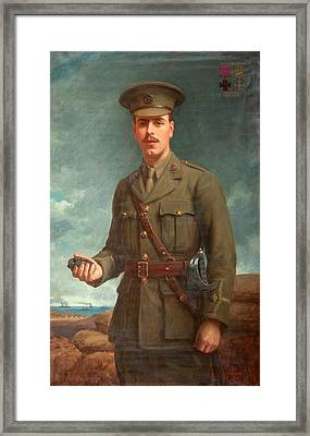 2nd Lieutenant Alfred Victor Smith, Vc Framed Print by Isaac Cooke
