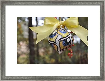 Majolica Maiolica Ornament Framed Print by Amanda  Sanford