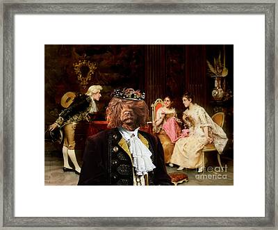 Portuguese Water Dog - Cao De Agua Portugues Art Canvas Print Framed Print by Sandra Sij