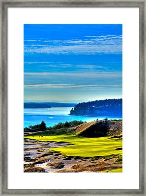 #14 At Chambers Bay Golf Course - Location Of The 2015 U.s. Open Tournament Framed Print by David Patterson