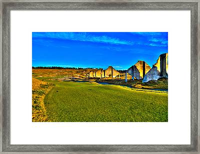 #18 At Chambers Bay Golf Course - Location Of The 2015 U.s. Open Tournament Framed Print by David Patterson