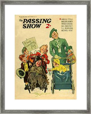 1930s Uk The Passing Show Magazine Cover Framed Print by The Advertising Archives