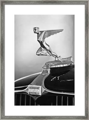 1932 Auburn 12-160 Speedster Hood Ornament Framed Print by Jill Reger