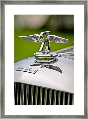 1937 Railton Rippon Brothers Special Limousine Hood Ornament Framed Print by Jill Reger