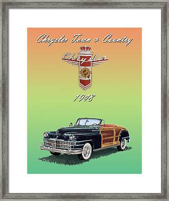 1948 Chrysler Town And Country Framed Print by Jack Pumphrey