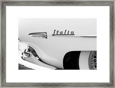 1954 Hudson Italia Touring Coupe Emblem Framed Print by Jill Reger
